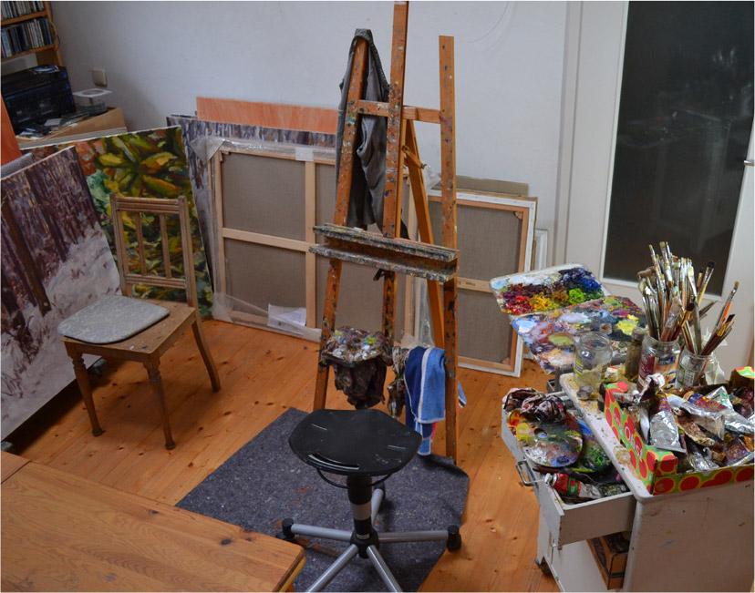 Atelier von Andreas Decke