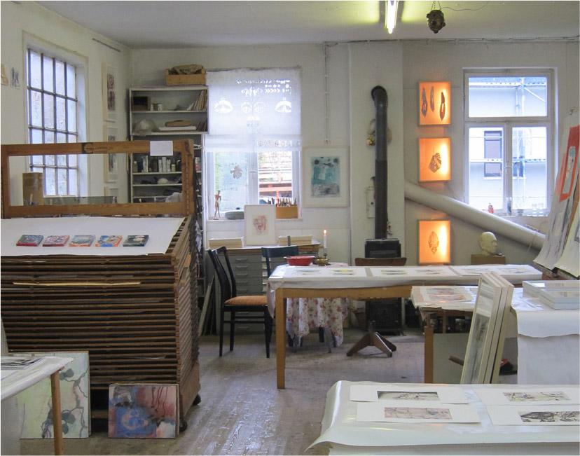 Atelier von Brigitte Heintze